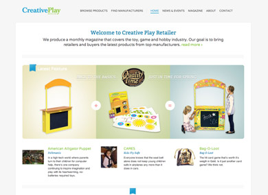 Creative Play Retailer Homepage